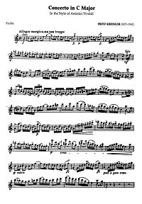 Kreisler - Violin concerto C-dur - Instrument part - First page