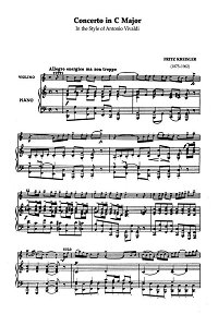 Kreisler - Violin concerto C-dur - Piano part - First page
