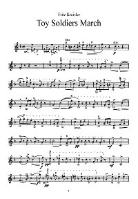 Kreisler - March of the toy soldiers for violin - Instrument part - First page