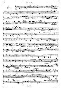 Kreutzer - Three concert duets for two violins - Instrument part - First page