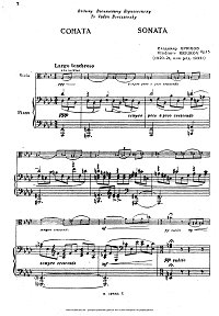 Kryukov - sonata for violin and piano - Piano part - First page