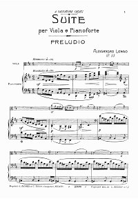 Longo Alessandro - Viola suite op.53 - Piano part - first page