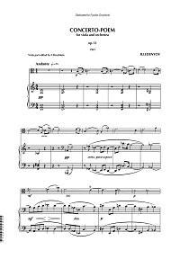 Ledenyov - Concerto-poem for viola and piano - Piano part - first page