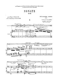 Lekeu - Cello sonata (1888) - Piano part - first page