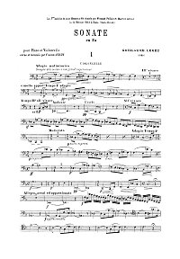Lekeu - Cello sonata (1888) - Instrument part - first page