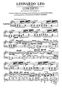 Leo - Cello Concerto D-dur - Piano part - first page