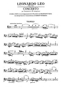Leo - Cello Concerto D-dur - Instrument part - first page