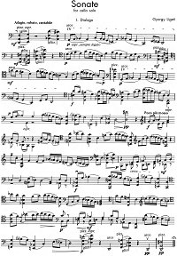 Ligeti - Sonata for cello solo - Instrument part - first page
