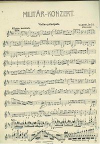 Lipinski - Military concert op.21 for violin - Instrument part - First page
