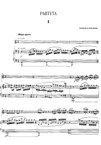 Lutoslawski - Partita for violin and piano - Piano part - first page