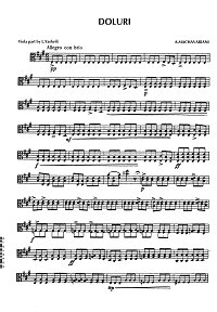 Machavariani - Doluri for viola solo - Viola part - first page