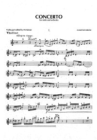 Machavariani - Violin Concerto - Instrument part - first page