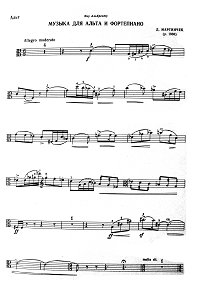 Martincek - Music for violin and piano - Viola part - First page