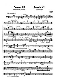 Martinu - Cello Sonata N2 (1941) - Instrument part - first page
