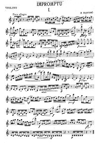 Martinu - Impromptu for violin - Instrument part - first page