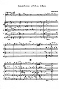 Martinu - Rhapsody-concerto for viola and orchestra - Piano part - first page