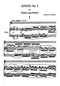 Martinu - Violin Sonata N3 - Piano part - first page