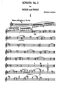 Martinu - Violin Sonata N3 - Instrument part - first page