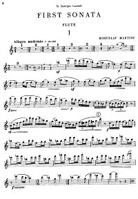 Martinu - Flute sonata - Flute part - first page