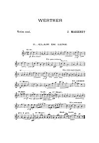 Massnet - Verter - Moonlight for violin - Instrument part - First page