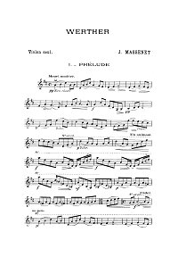Massnet - Verter - Prelude for violin - Instrument part - First page