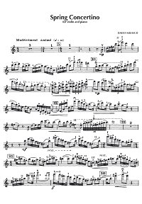 Milhaud - Concertino de printemps for violin Op. 135 - Instrument part - first page