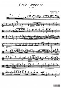 Myslivecek - Cello Concerto C-dur - Instrument part - first page