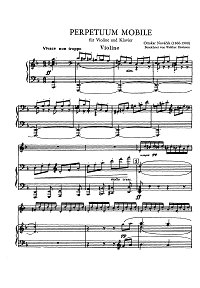 Novacek - Perpetuum mobile - for violin and piano- Piano part - First page