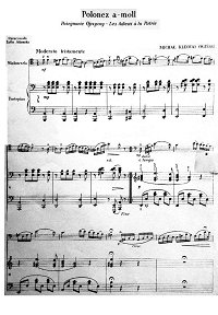 Oginski - Polonaise (Polonez) for cello and piano - Piano part - first page