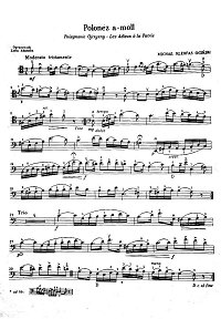 Oginski - Polonaise (Polonez) for cello and piano - Instrument part - first page