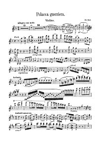 Bull Ole - Polka for violin - Instrument part - First page