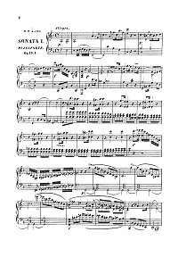 Onslow - Viola sonatas op.16 - Piano part - first page