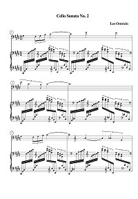 Ornstein - Cello sonata N2 - Piano part - first page