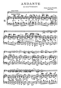 Pisendel - Andante for violin - Piano part - First page