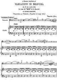 Paganini - Cello Variations on a Theme from Mose (Silva) - Piano part - first page