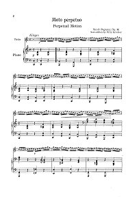 Paganini - Moto perpetuo for violin and piano - Piano part - first page
