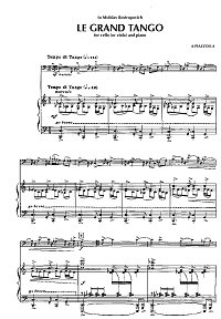 Piazzolla - Le Grand tango for viola and piano - Piano part - first page