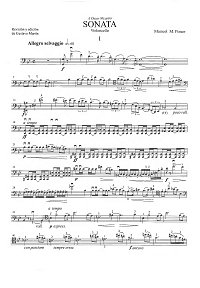 Ponce - Sonata for cello and piano - Instrument part - first page