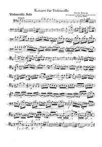 Porpora - Cello Concerto - Instrument part - first page