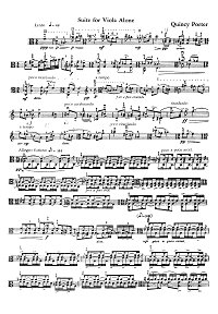 Porter - Suite for viola solo - Instrument part - first page