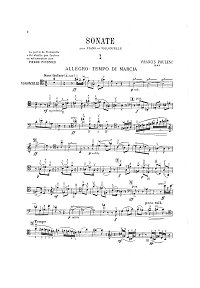 Poulenc - Cello Sonata - Instrument part - first page
