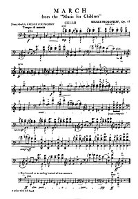 Prokofiev - March for cello solo op.65 - Instrument part - first page