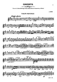 Rode - Violin Concerto N4 for violin - Instrument part - First page