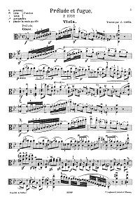 Rust - Prelude and fugue for viola - Instrument part - first page