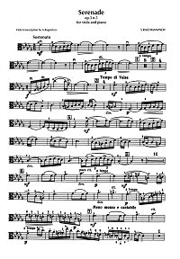 Rachmaninov - Serenade for viola and piano - Instrument part - first page