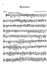 Rachmaninov - 2 pieces for violin Op.6 - Instrument part - first page