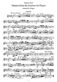 Ravel - Menuet for violin - Instrument part - First page