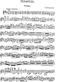 Rieding - Concertino in D for violin op.25 - Instrument part - first page