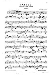 Rubinstehn - Violin sonata N.2 Op.19 - Instrument part - first page