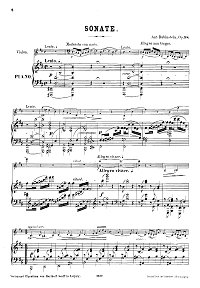 Rubinstehn - Violin sonata N.3 Op.98 - Piano part - first page